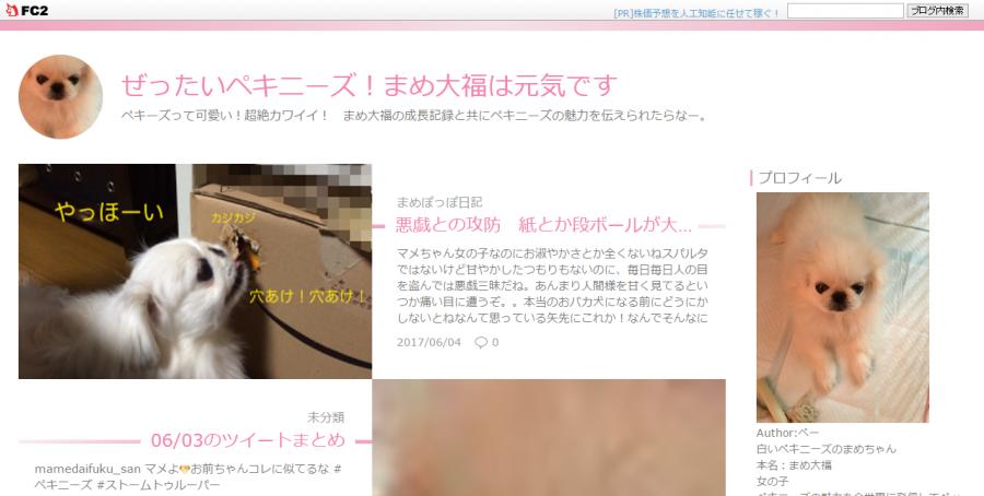 ペキニーズのブログのトップページ