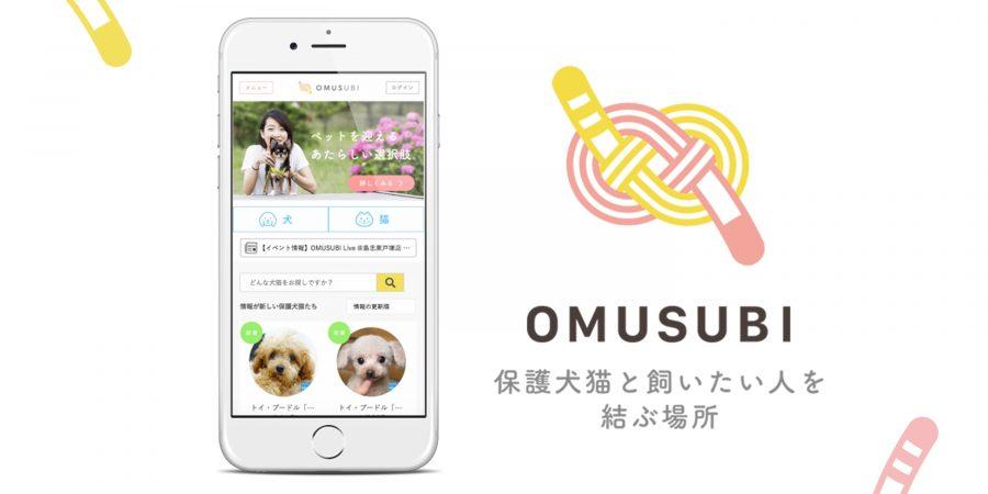 保護犬、保護猫の里親募集サイト「OMUSUBI」