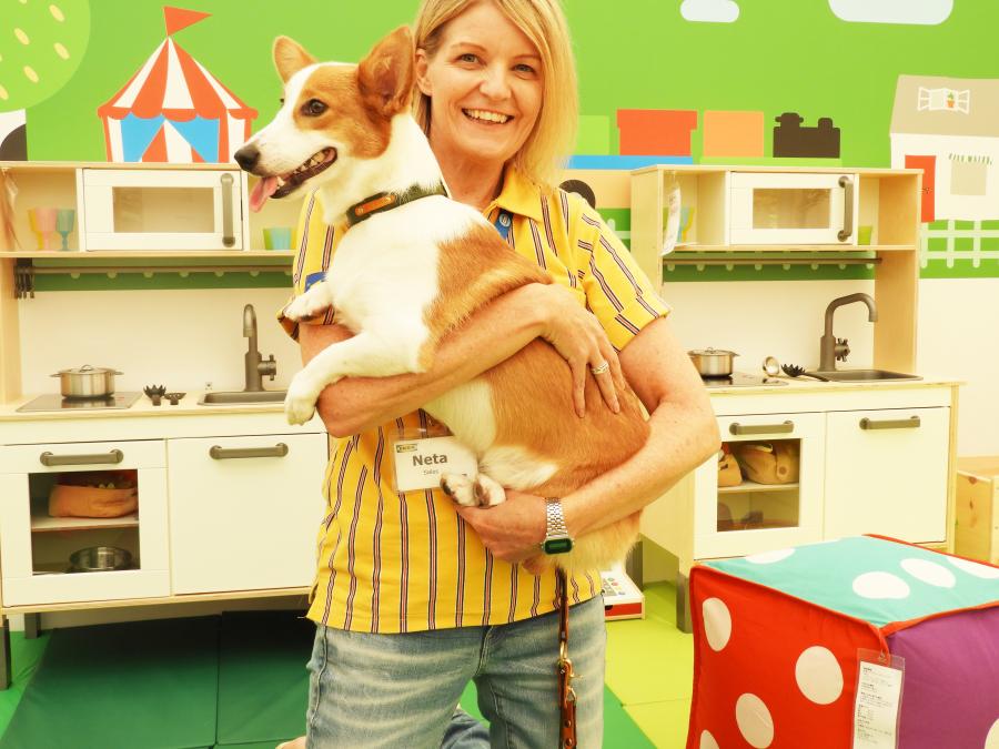 IKEAのペット用品シリーズ「ルールヴィグ」のイベントのスタッフと犬