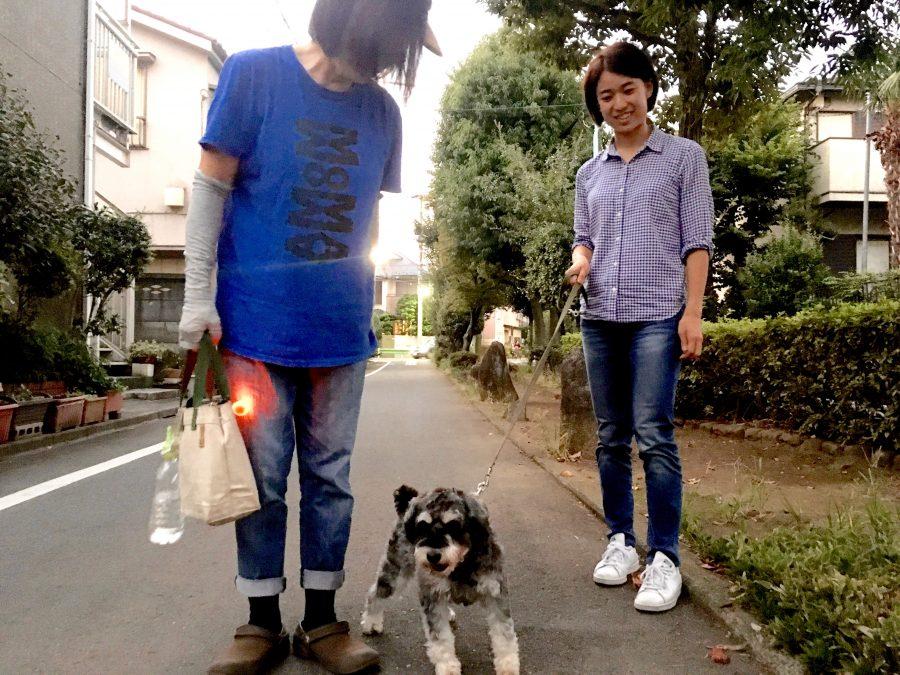 元保護犬のシルバくん 家族でお散歩