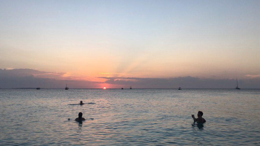 タンザニアのザンジバル島の夕陽