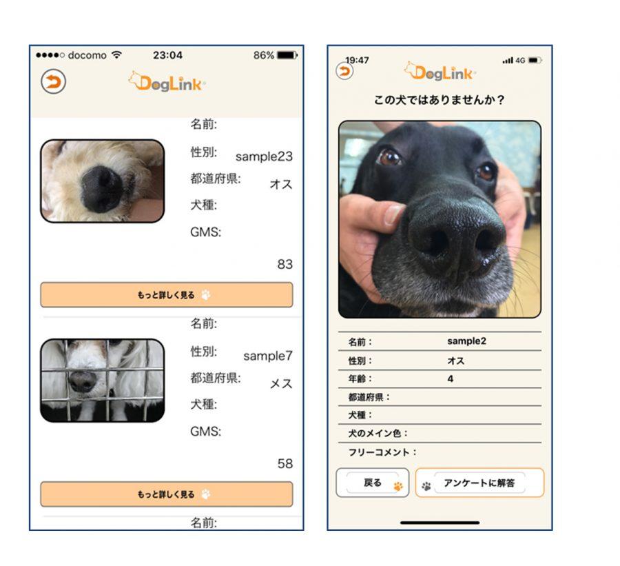 鼻紋認証の画像