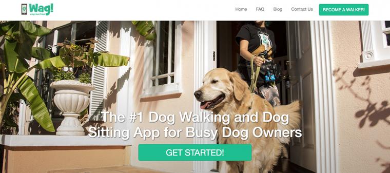 犬の散歩代行サービス「Wag」